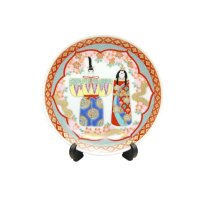 Hina ningyou Ornamental plate (a plate displayed at the Girls' Festival)