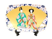 Senmen hina Ornamental plate (Large)  (a plate displayed at the Girls' Festival)