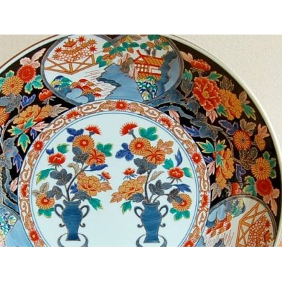 Photo2: Kinran kikuna Ornamental plate(30cm)