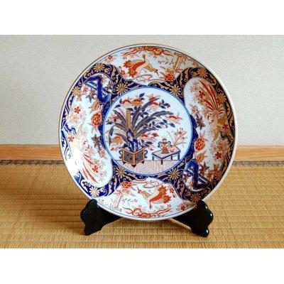 [Made in Japan] Kinran mokkou Ornamental plate(39cm)