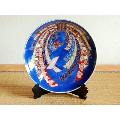 [Made in Japan] Kinsai Noshi Ornamental plate(30cm)