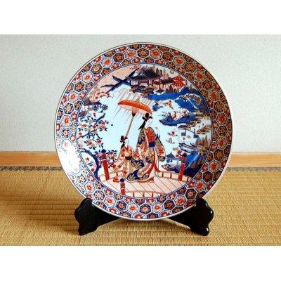 [Made in Japan] Kinsai yuuen Ornamental plate(30cm)