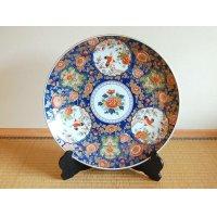 Kyokusai mokkou tsuru Ornamental plate(45cm)