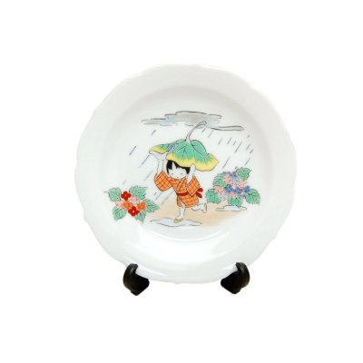 [Made in Japan] Tsuyu dayori (June) Monthly Small ornamental plate
