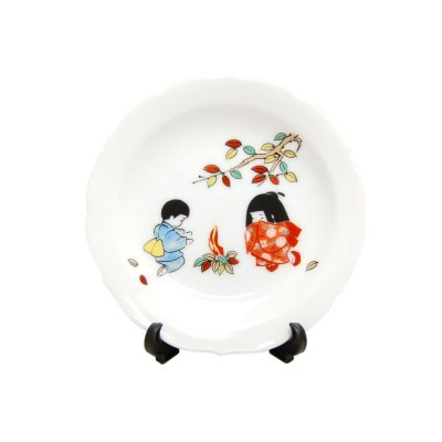 [Made in Japan] Takibi (December) Monthly Small ornamental plate