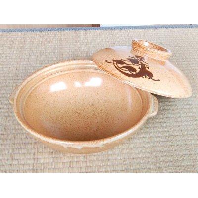 Photo2: Anraku 10-sun DONABE earthen pot (for therr or four)