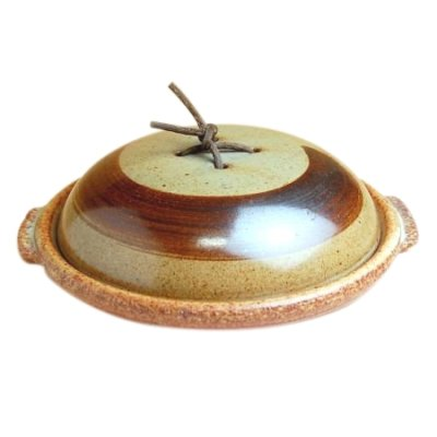 [Made in Japan] Anraku 11寸Earthen plate with cover (33.4cm)