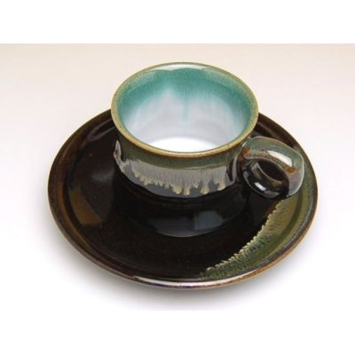 Photo3: Youhen nagashi Cup and saucer