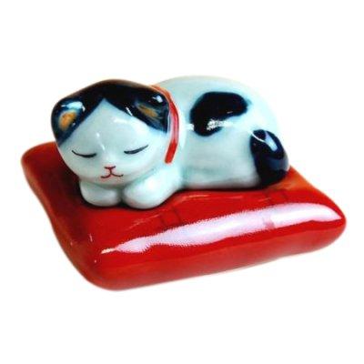 [Made in Japan] Zabuton neko Incense stand