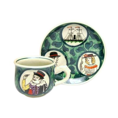 [Made in Japan] Nanbanjin (Green) Cup and saucer