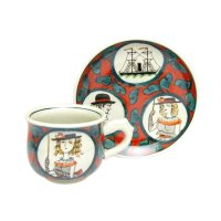 Nanbanjin (Red) Cup and saucer
