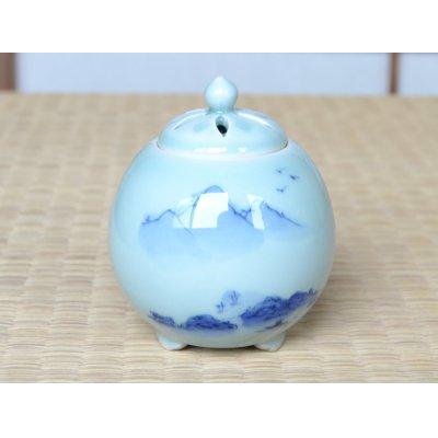 Photo2: Seiji sansui landscape Uri Incense burner