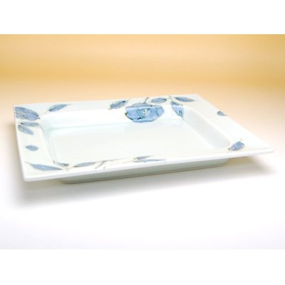 Photo2: Sometsuke bara rose Extra-large plate (28.5cm)