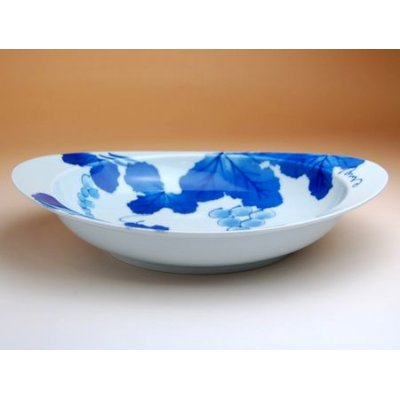 Photo3: Grape Oval dish (26.6cm)