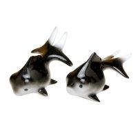 Demekin goldfish (Black & Black) Ornament doll