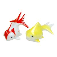 Demekin goldfish (Mottle & Yellow) Ornament doll