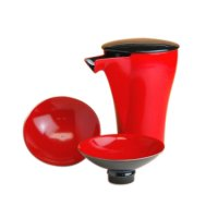Red and Black Sake bottle & cups set