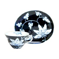 Kyo-seika (Blue) Cup and saucer