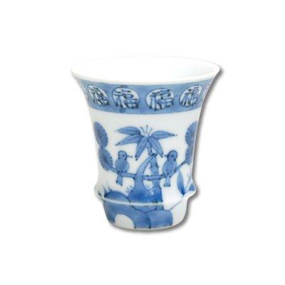 [Made in Japan] Fuku kachou (Vertical) SAKE GLASS