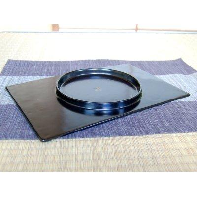 Photo3: Nishiki araiso (Black) Extra-large rectangle plate (30cm)