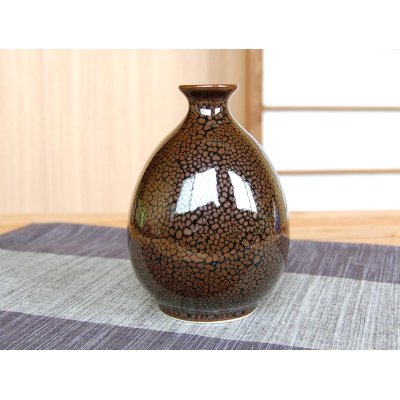 Photo3: Yuteki tenmoku Sake bottle & cups set (wood box)