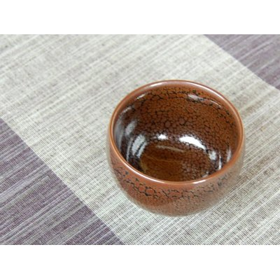Photo3: Tenmoku SAKE cup (wood box)