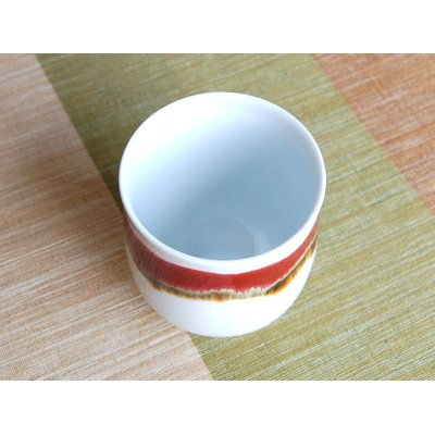 Photo3: Silk road (Large)Japanese green tea cup (wooden box)