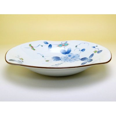 Photo2: Somenishiki hana botan Large bowl (24.8cm)