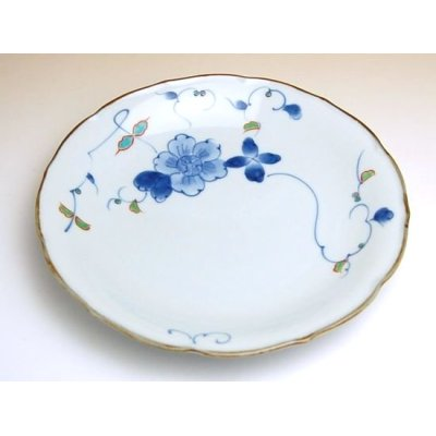 Photo2: Somenishiki hana botan Large plate (21cm)