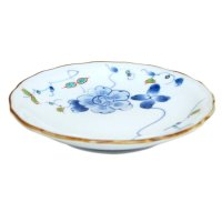 Somenishiki hana botan Small plate (15.5cm)