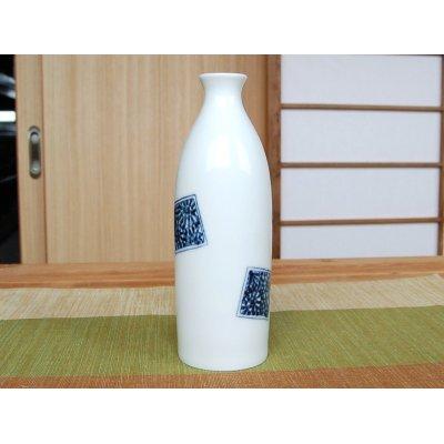 Photo3: Kakumon tako karakusa Sake bottle & cups set (wood box)