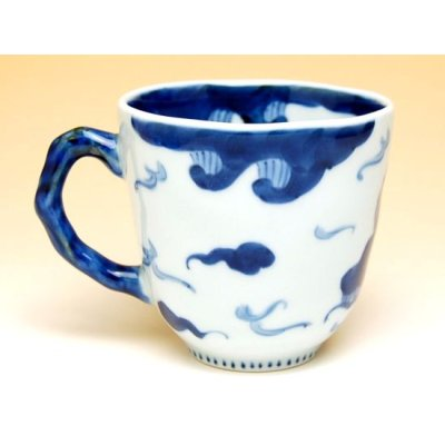 Photo3: Unryu dragon (Blue) mug