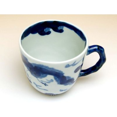 Photo4: Unryu dragon (Blue) mug