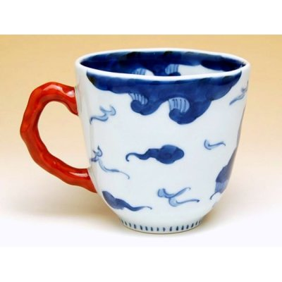Photo4: Unryu dragon (Red) mug