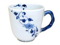 Hana obi karakusa (Blue) mug