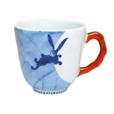 [Made in Japan] Nagomi getto rabbit  (Red) mug
