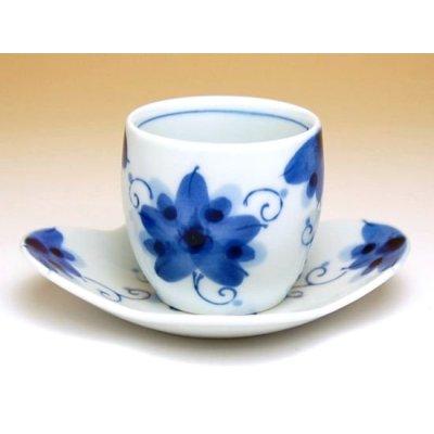 Photo2: Sakura-so Tea cup set  (5 cups & saucer)