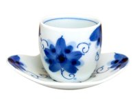 Sakura-so Japanese green tea cup with saucer