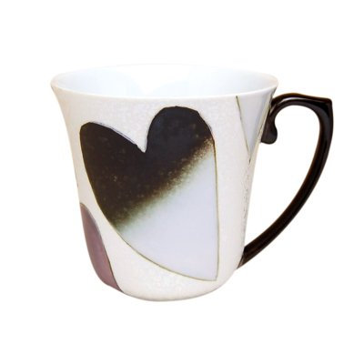 [Made in Japan] Heart (Black) mug