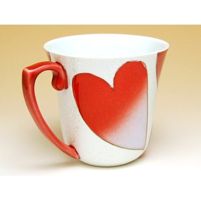 Photo2: Heart (Red) mug