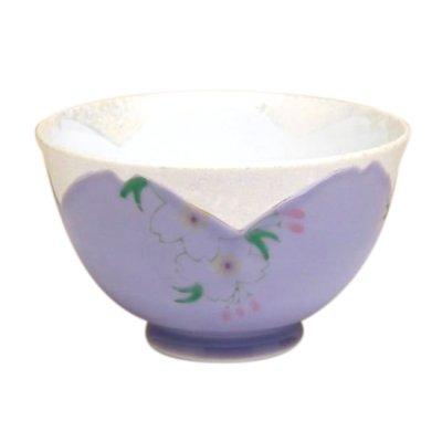 [Made in Japan] Hanano mai Sakura (Purple) rice bowl