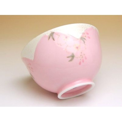 Photo2: Hanano mai Sakura (Pink) rice bowl