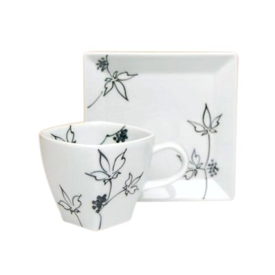 [Made in Japan] Ukogi (Black) Cup and saucer