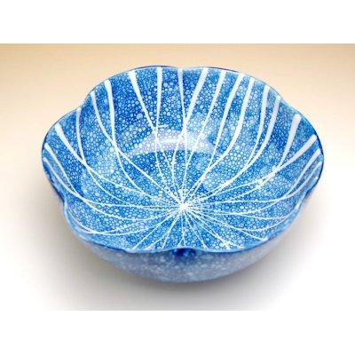 Photo2: Yuteki midare tokusa Large bowl (21cm)
