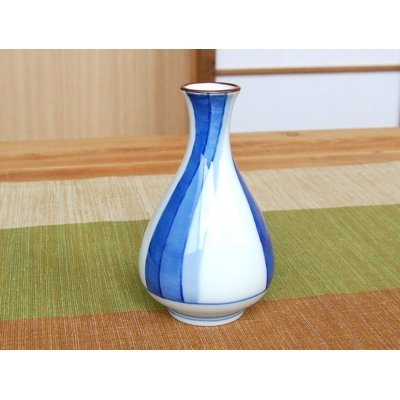 Photo3: Ryusui Sake bottle & cups set (wood box)