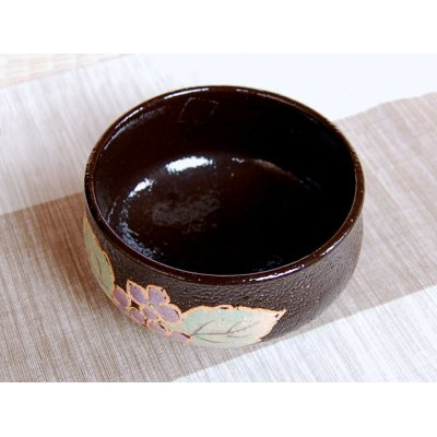 Photo4: Nishiki ajisai Tea bowl for tea ceremony