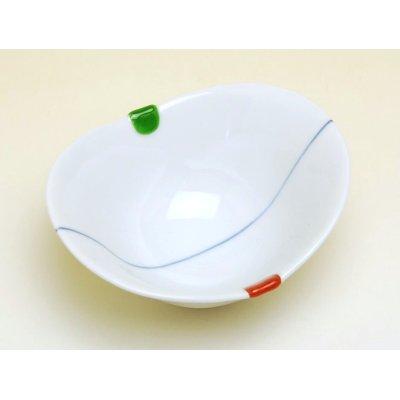 Photo2: Sanshoku futaba Small bowl (10.8cm)