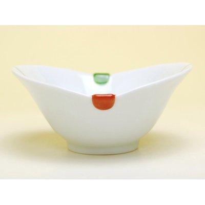 Photo3: Sanshoku futaba Small bowl (10.8cm)