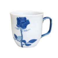 Bara rose (Blue) mug