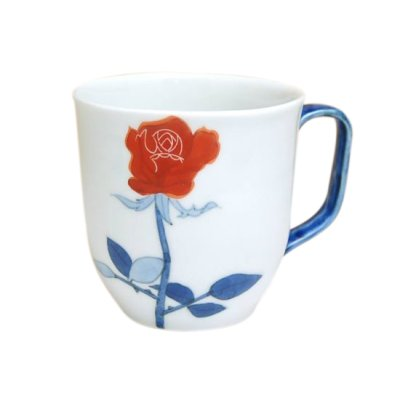[Made in Japan] Bara rose (Red) mug